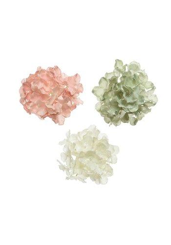 Decoris Hortensia met glitters, 10cm
