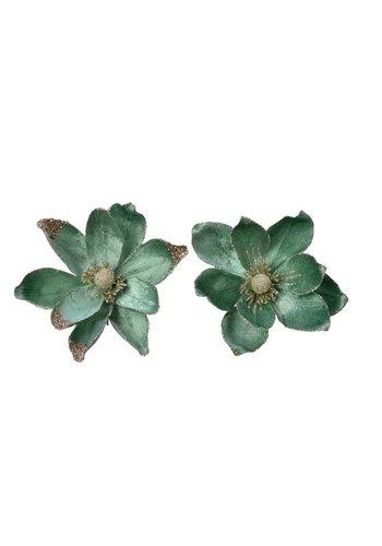 Decoris Magnolia op clip, 20cm, saliegroen