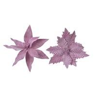 Poinsettia op clip, lila, 29cm