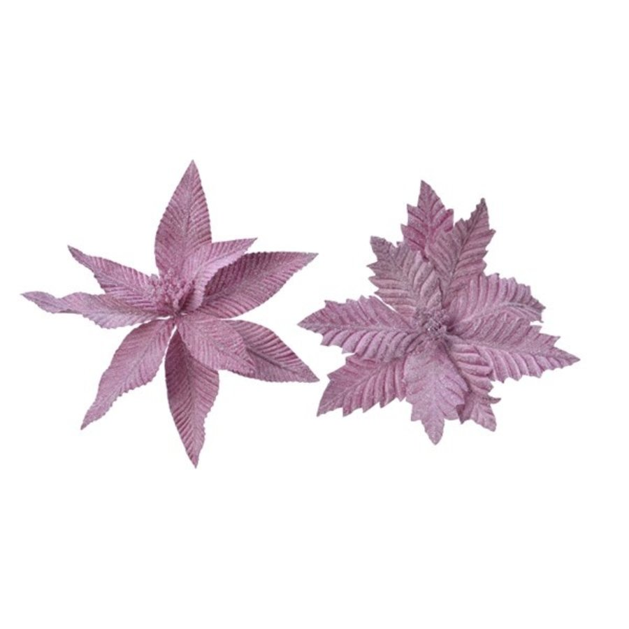 Poinsettia op clip, lila, 29cm-1