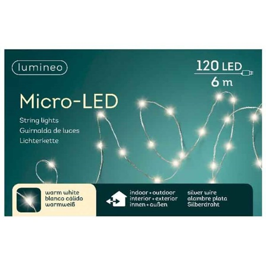 micro LED lights - silver wire - Warm Wit-4