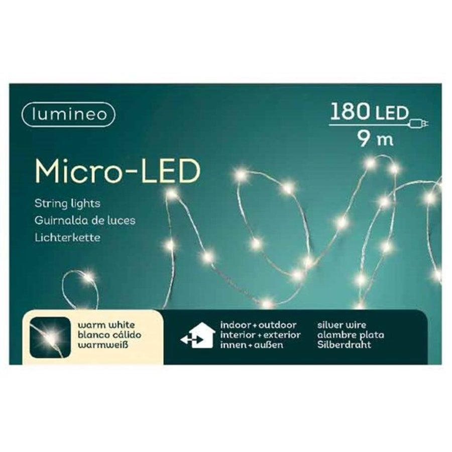 micro LED lights - silver wire - Warm Wit-1