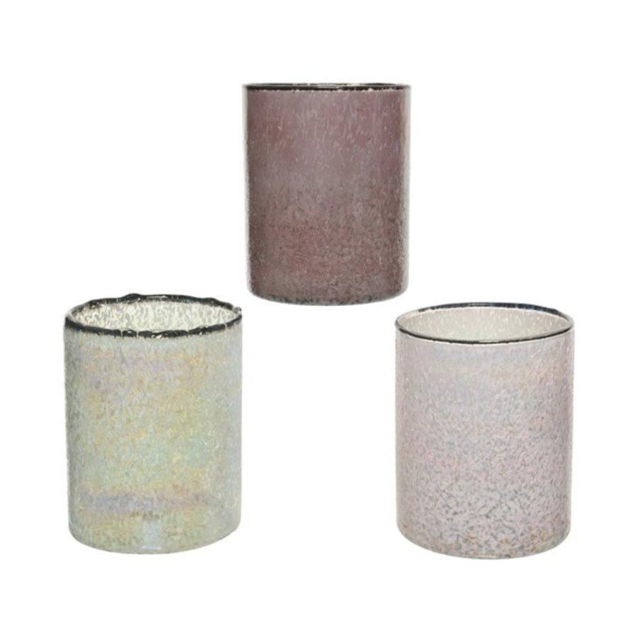 Theelicht glas, 8cm-1