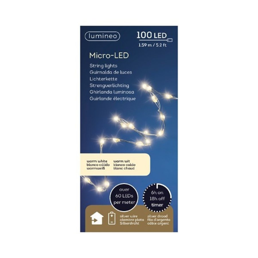 micro LED extra dicht - silver wire - Warm Wit-2