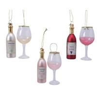 Set glazen wijnfiguur met glas