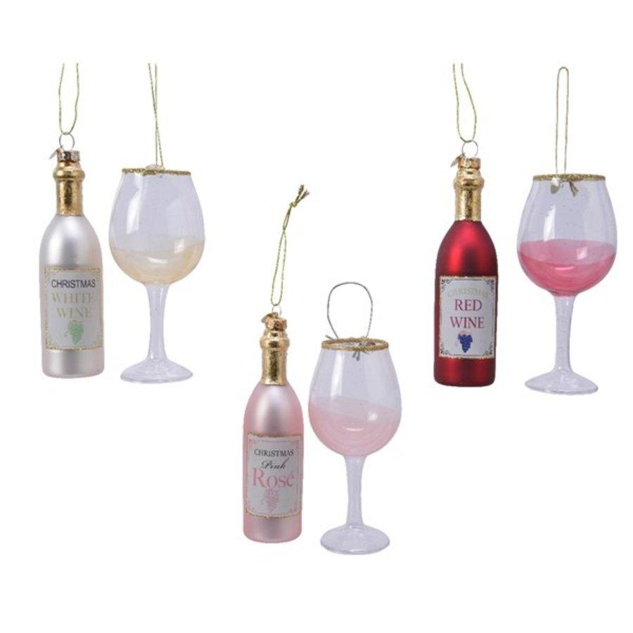 Set glazen wijnfiguur met glas-1