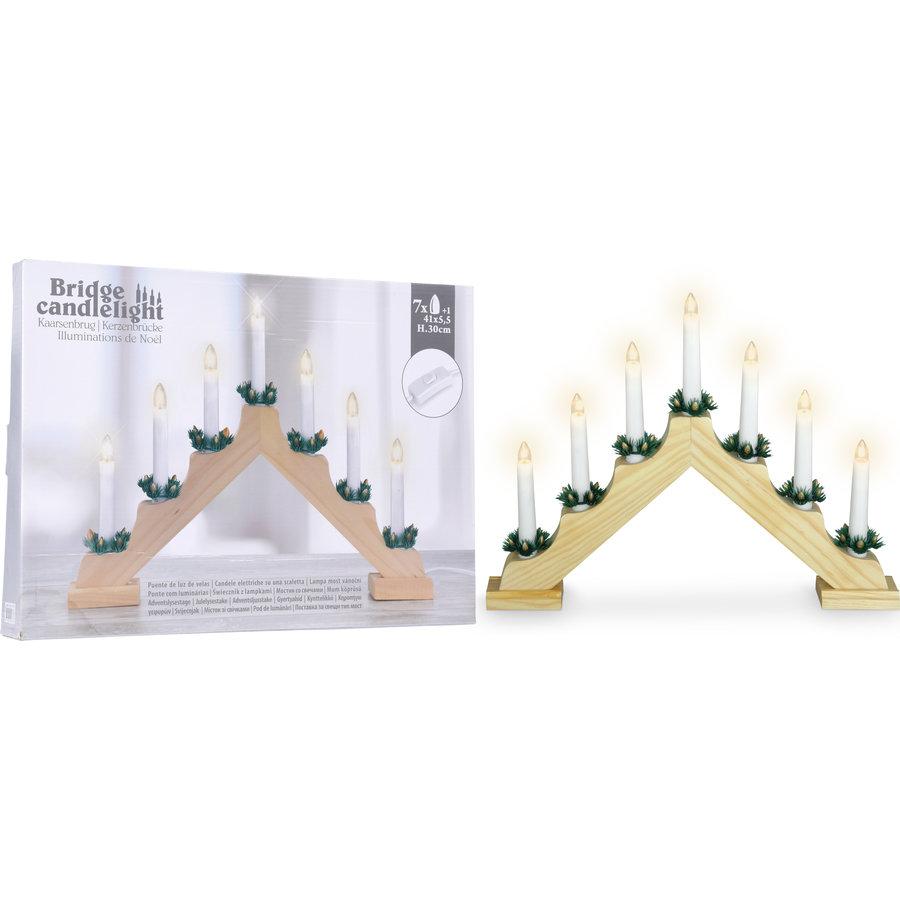 Kaarsenbrug hout 7 Lamps-1