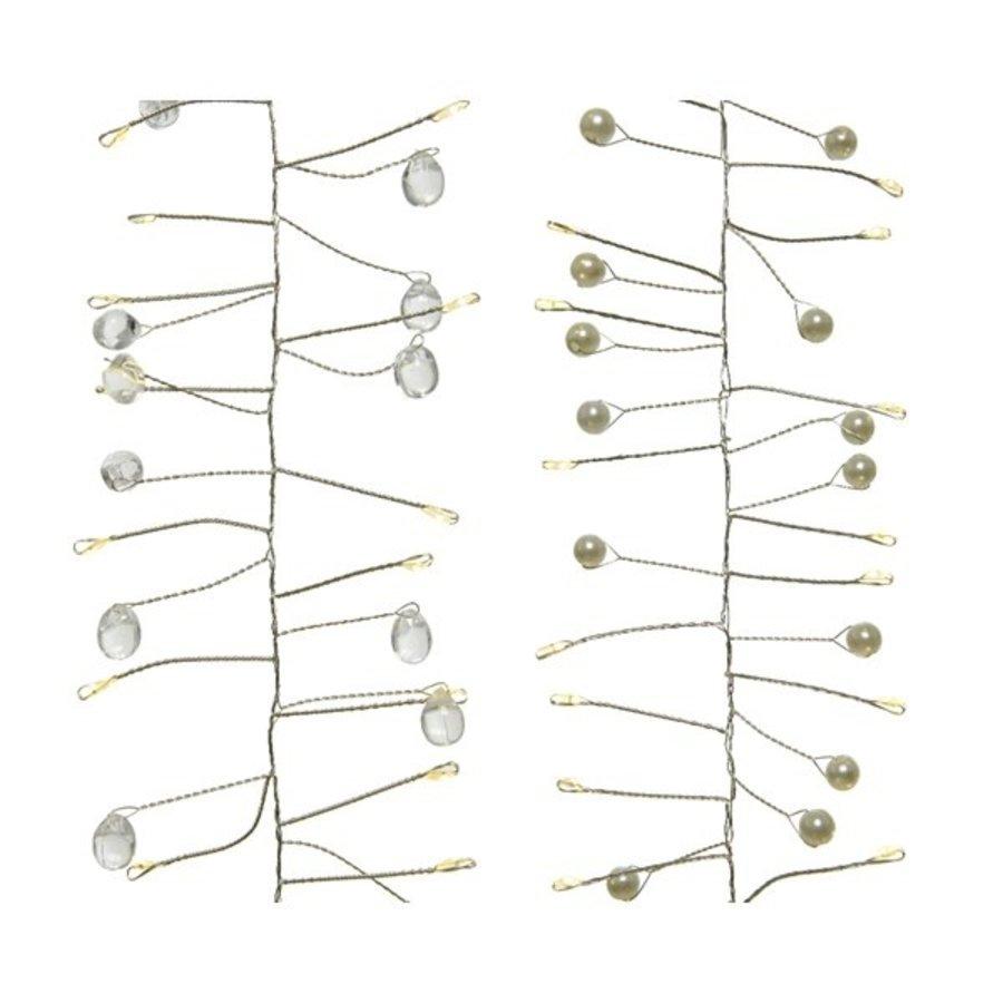 micro LED parelverlichting - silver wire - Warm Wit-1