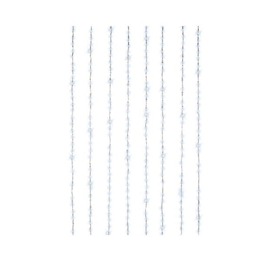 LED waterval gordijnverlichting - transparant - Koel Wit-1