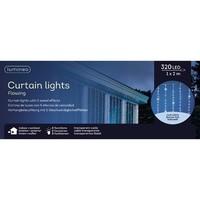 thumb-LED waterval gordijnverlichting - transparant - Koel Wit-2