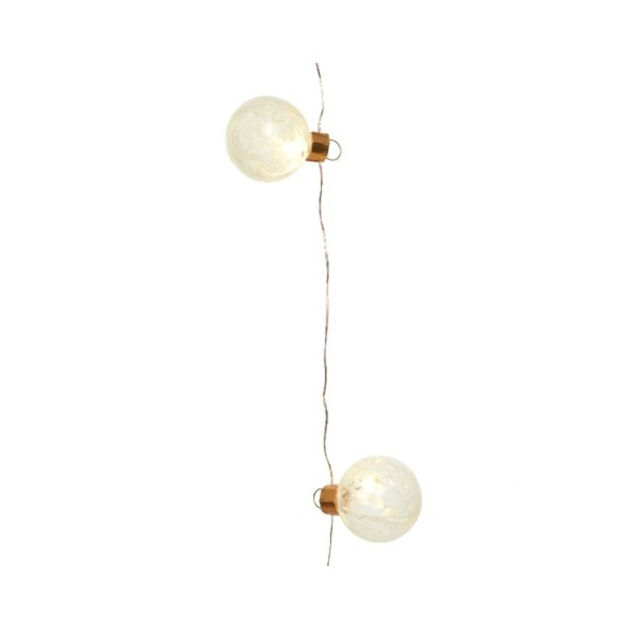 micro LED frosted glass ball - koper - Warm Wit-1