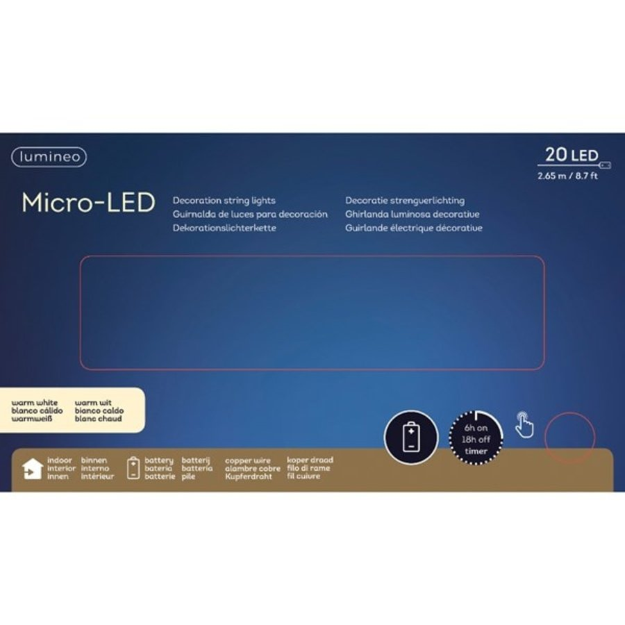 micro LED frosted glass ball - koper - Warm Wit-2