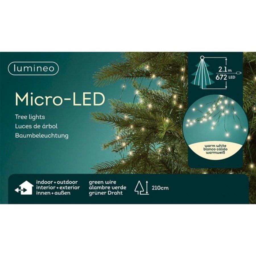 micro LED boomverlichting - groene kabel - Warm Wit-4