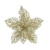 Poinsettia op clip, goud