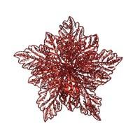 Poinsettia op clip, rood