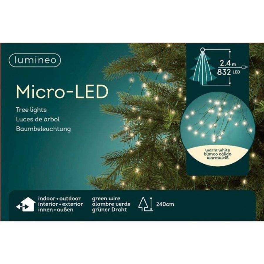 micro LED boomverlichting - groene kabel - Warm Wit-5