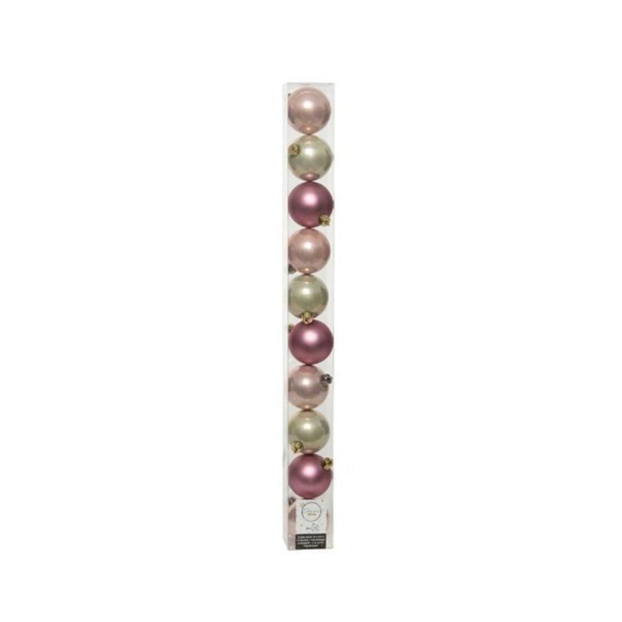 Set/10 onbreekbare kerstballen dia 6cm Pink Forest-1
