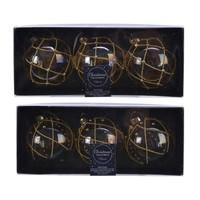 thumb-Set/3 glazen kerstballen dia 8cm transparant bewerkt-2