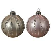 Set/3 glazen kerstballen dia 8cm