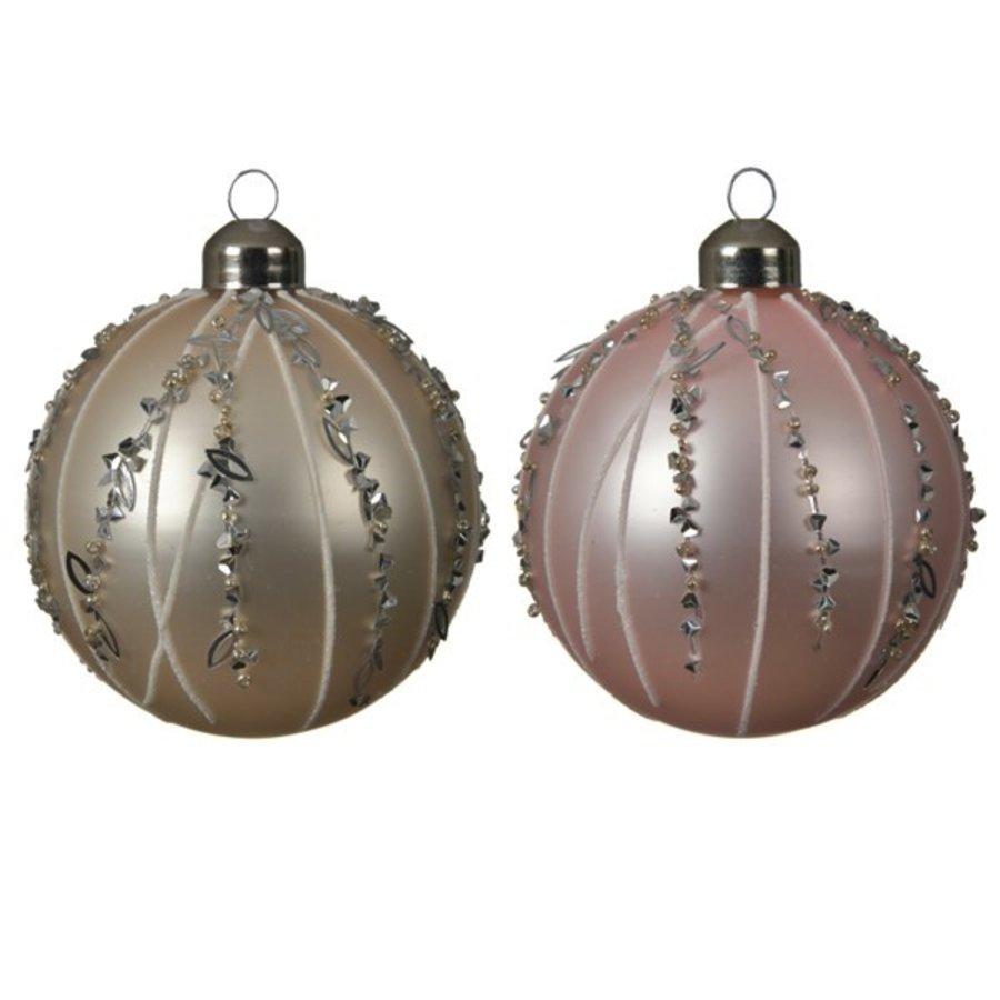 Set/3 glazen kerstballen dia 8cm-1