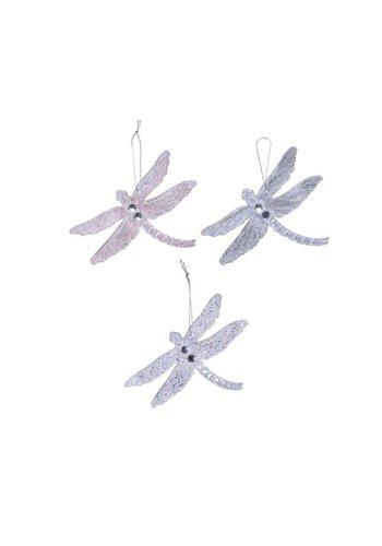 Decoris Libelle plastic met hanger