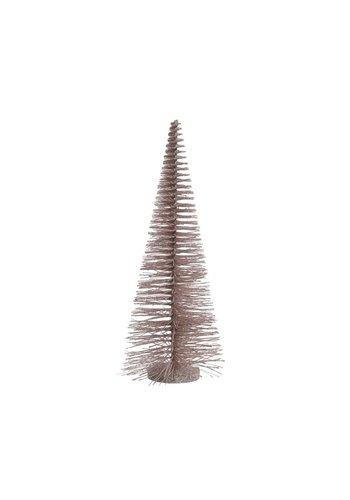 Decoris Boom plastic glitter poederroze, 50cm