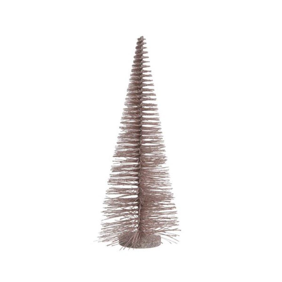 Boom plastic glitter poederroze, 50cm-1