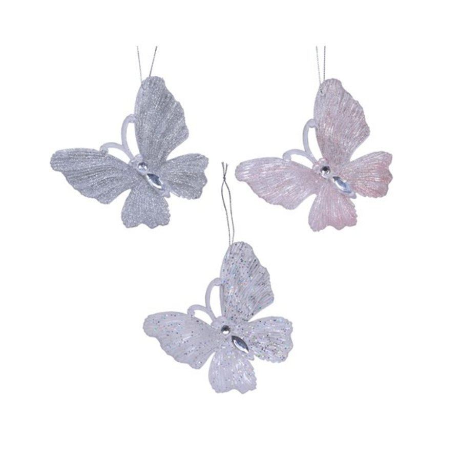 Vlinder plastic met hanger, 10cm-1