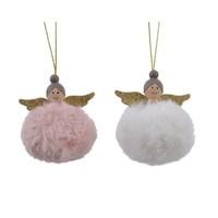 Engel poly pompon met hanger