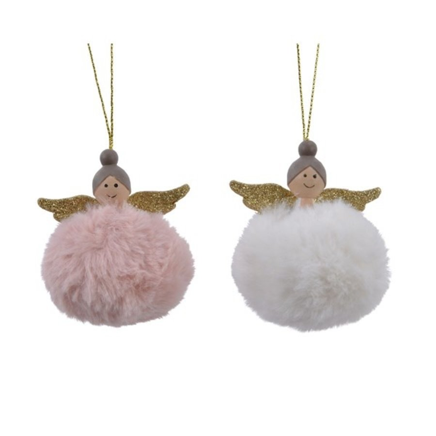 Engel poly pompon met hanger-1