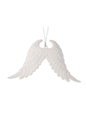 Decoris Vleugels plastic glitter met hanger