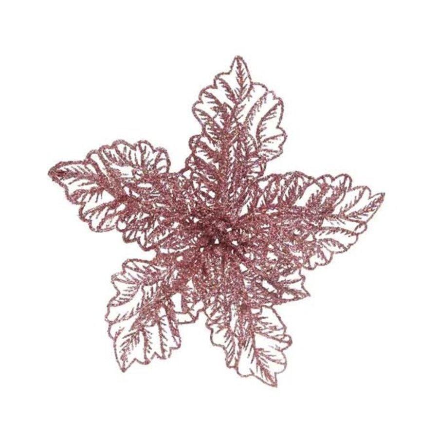 Poinsettia op clip, poederroze-1