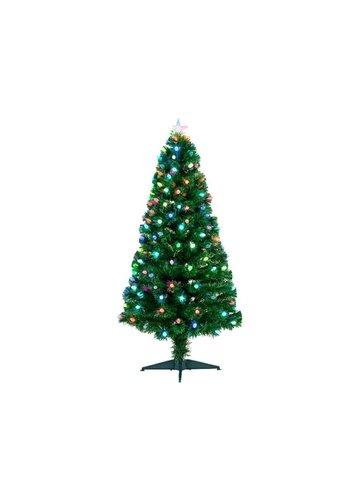 Kerstboom glasvezel 120cm  129lights