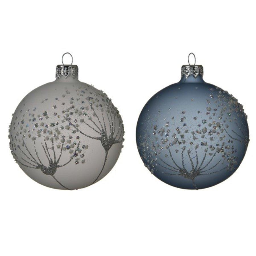 Kerstbal glas bewerkt/6 dia 8cm winter sky-1