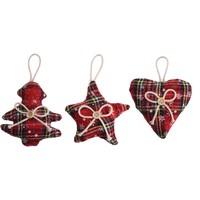thumb-Kerstfiguur, Schotse ruit-2