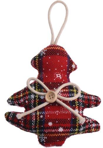 Home & Styling Kerstfiguur, Schotse ruit