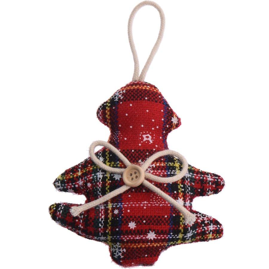 Kerstfiguur, Schotse ruit-1