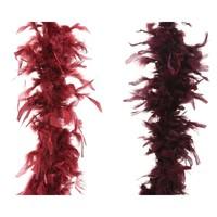 Boa guirlande 184cm mix velvet pink/burgundy