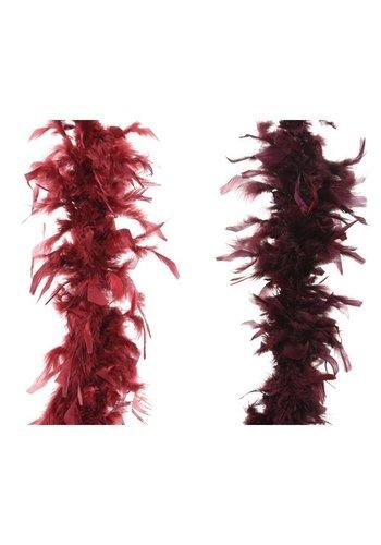 Decoris Boa guirlande 184cm mix velvet pink/burgundy