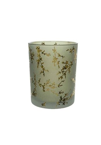 Decoris Theelicht glas, 18cm