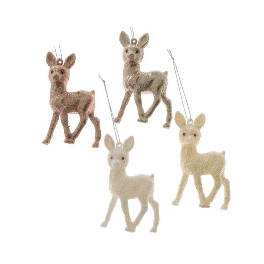 Hert plastic met hanger, 10cm-1