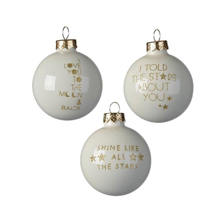 Kerstbal glas dia 6cm, met tekst-1
