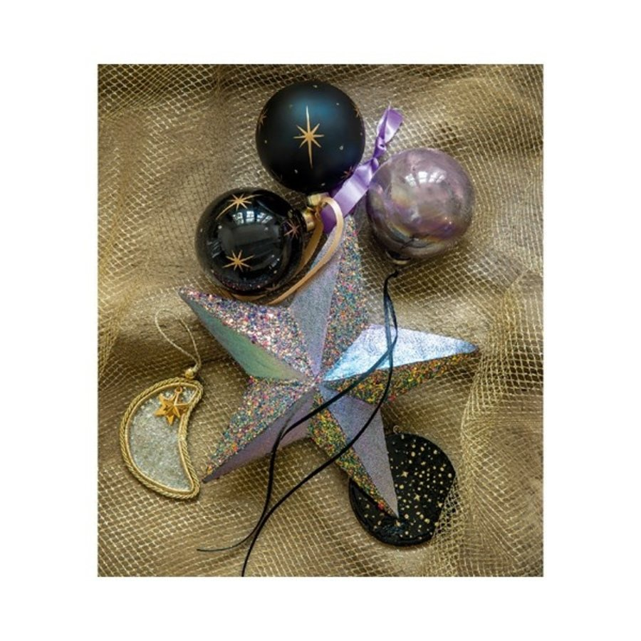 Kerstbal glas, dia 8cm-2