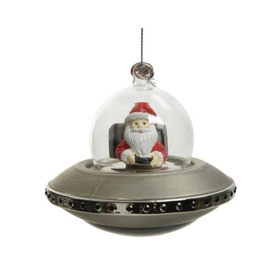 Ruimteschip glas, met kerstman-1