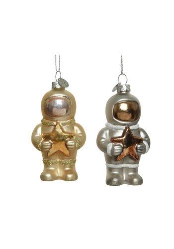 Decoris Astronaut glas ster, met hanger