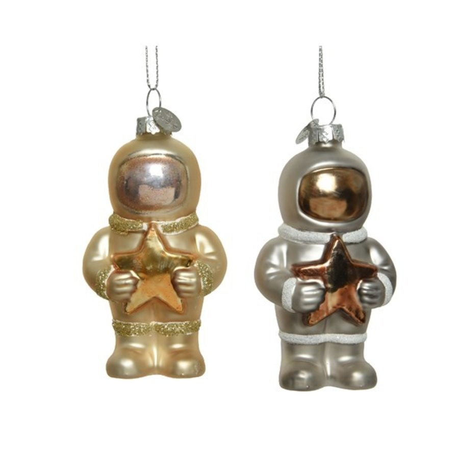 Astronaut glas ster, met hanger-1