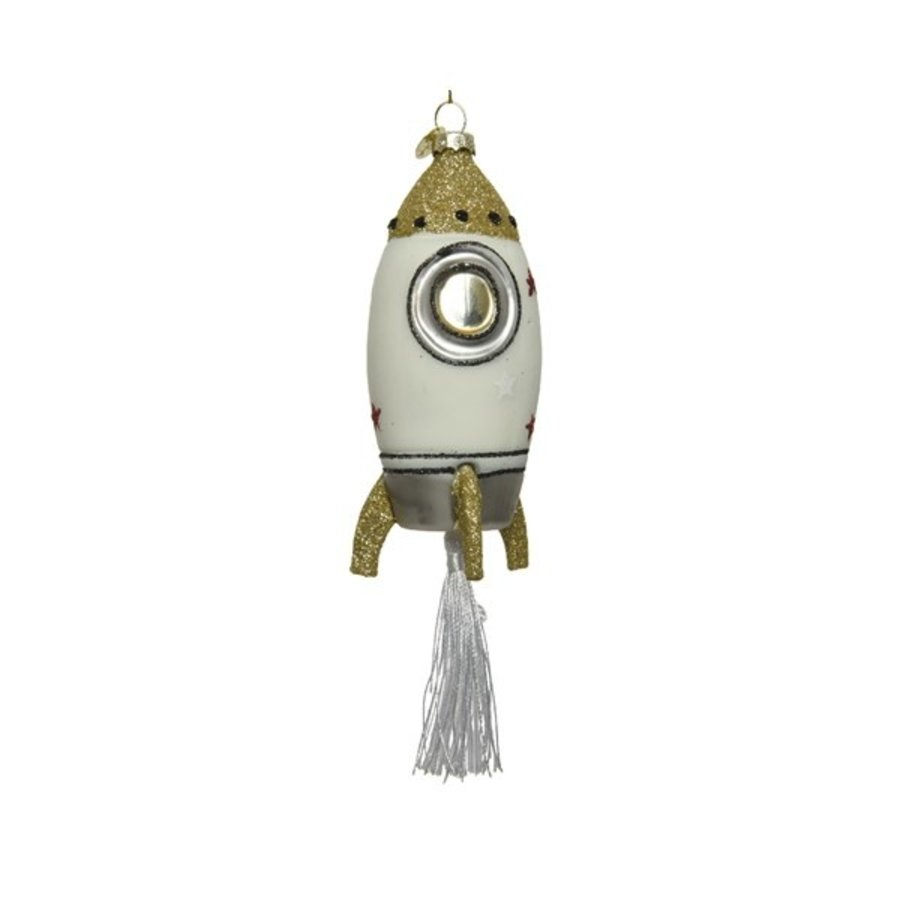 Raket glas kwast, met hanger-1
