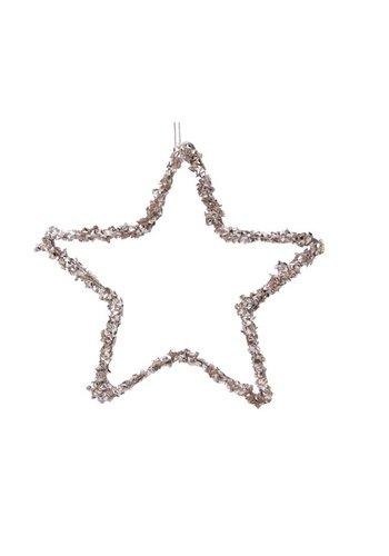Decoris Ster ijzer dia15cm, met hanger