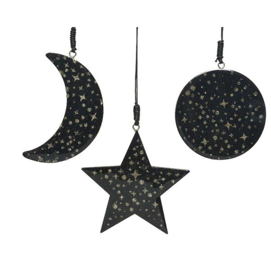 Kerstfiguur met hanger, zwart-1