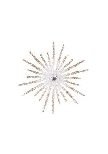 Decoris Sneeuwvlok plastic kraal glitter dia 20cm